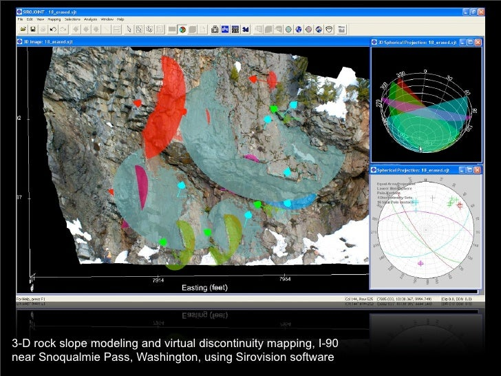 3-D rock slope modeling and virtual discontinuity mapping, I-90 near Snoqualmie Pass, Washington, using Sirovision software