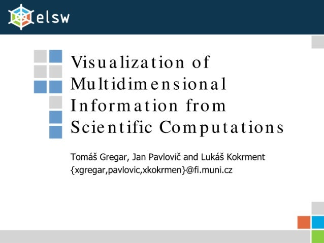 Visualization of Multidimensional Information from Scientific Computations