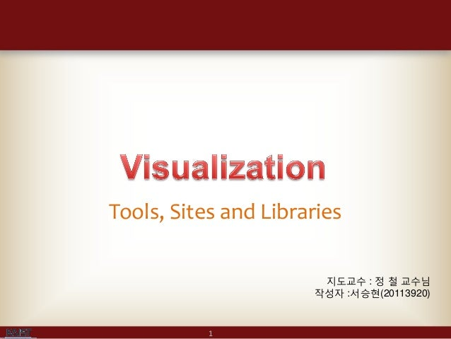 Tools, Sites and Libraries                       지도교수 : 정 철 교수님                      작성자 :서승현(20113920)           1