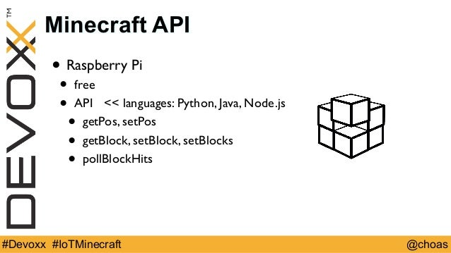 Visualization of IoT data with minecraft