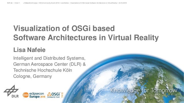 Visualization of OSGi based Software Architectures in Virtual Reality Lisa Nafeie Intelligent and Distributed Systems, Ger...