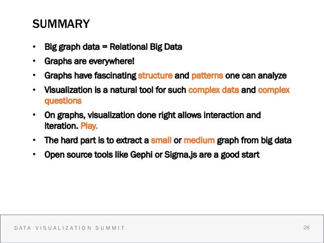 SUMMARY    • Big graph data = Relational Big Data    • Graphs are everywhere!    • Graphs have fascinating structure an...