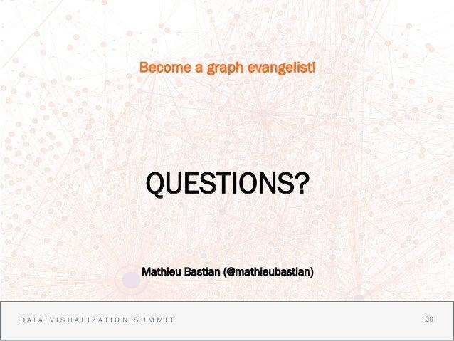 Become a graph evangelist!                    QUESTIONS?                   Mathieu Bastian (@mathieubastian)DATA VISUALIZA...