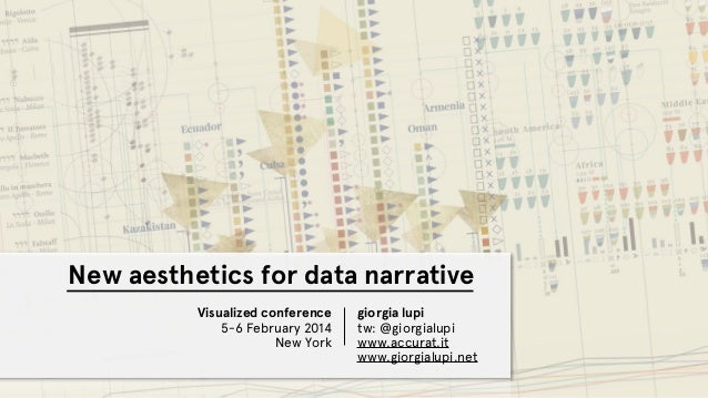 New aesthetics for data narrative Visualized conference 5-6 February 2014 New York giorgia lupi tw: @giorgialupi www.accur...