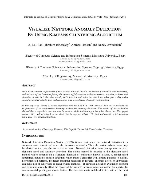 International Journal of Computer Networks & Communications (IJCNC) Vol.5, No.5, September 2013 DOI : 10.5121/ijcnc.2013.5...