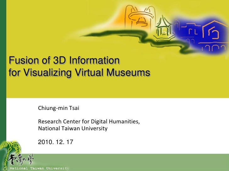 Visualizing 3 d virtual museums