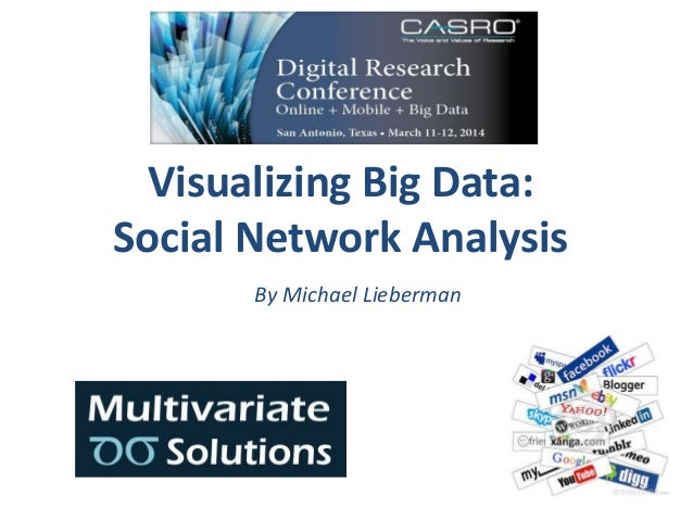 Visualizing Big Data: Social Network Analysis By Michael Lieberman