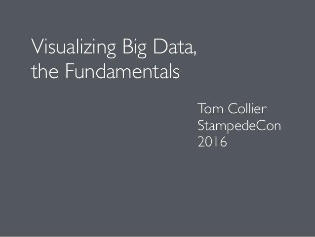 Visualizing Big Data, the Fundamentals Tom Collier StampedeCon 2016