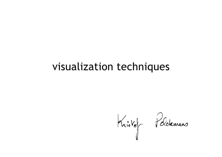 visualizing information in 6 steps version with links to sources