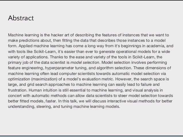 Visualizing the Model Selection Process Slide 2