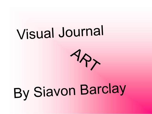 Visual Journal for Art