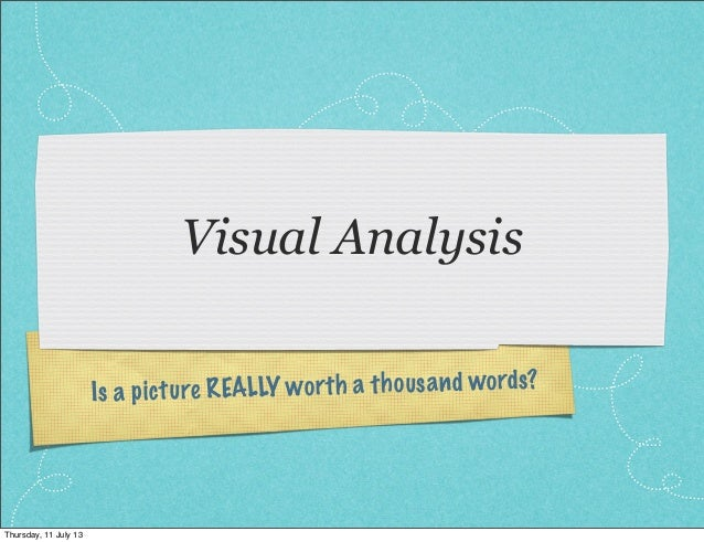 One thousand words visual culture