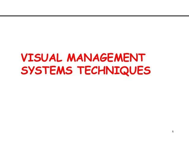 1VISUAL MANAGEMENTSYSTEMS TECHNIQUES