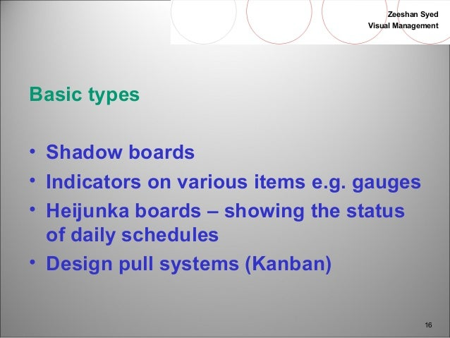 Visual management & 5S \
