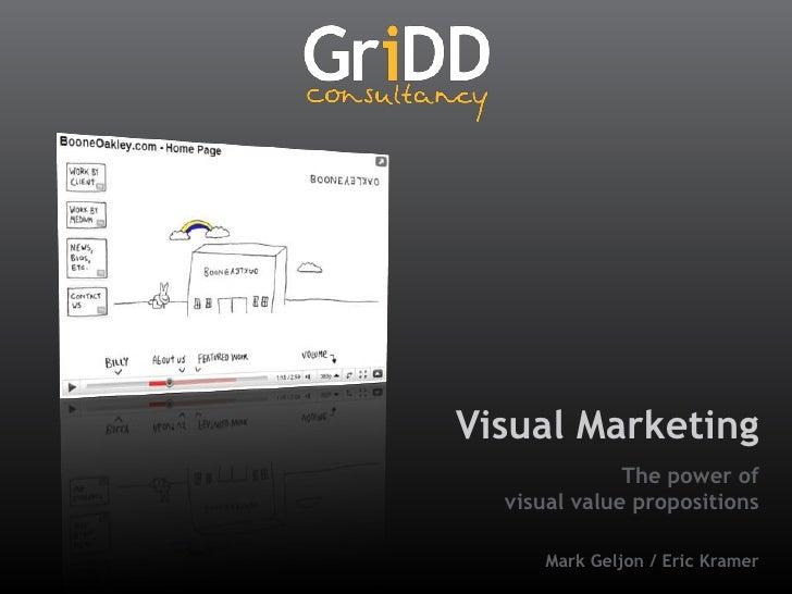 Visual Marketing<br />The power of visualvaluepropositions<br />Mark Geljon / Eric Kramer<br />