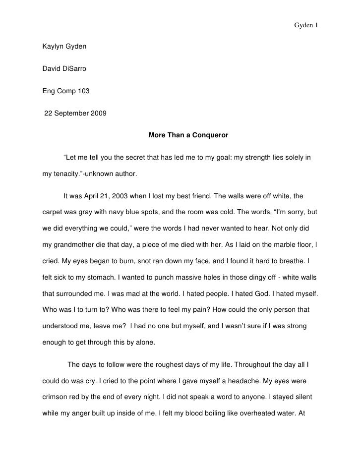 Personal Narrative Essay On Helping People Jane