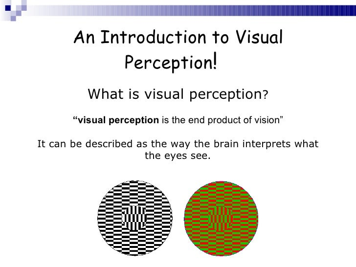 an introduction to the development of visual perception Booktopia has basic vision, an introduction to visual perception : 2nd edition by robert snowden buy a discounted paperback of basic vision online from australia's.