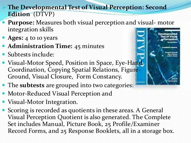 Visual Perceptual