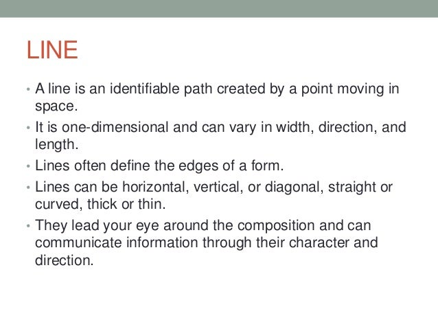 Visual perction lesson 3 understanding line
