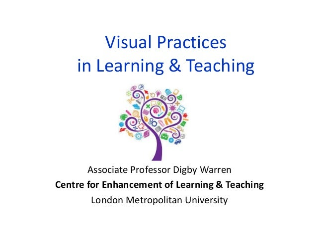 Visual Practices in Learning & Teaching Associate Professor Digby Warren Centre for Enhancement of Learning & Teaching Lon...