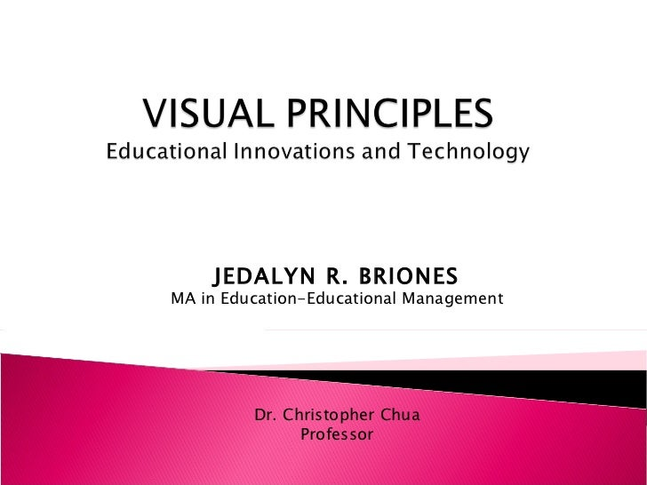 JEDALYN R. BRIONES MA in Education-Educational Management Dr. Christopher Chua Professor