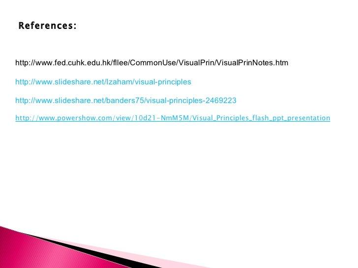 Visual Principles : Visual principles