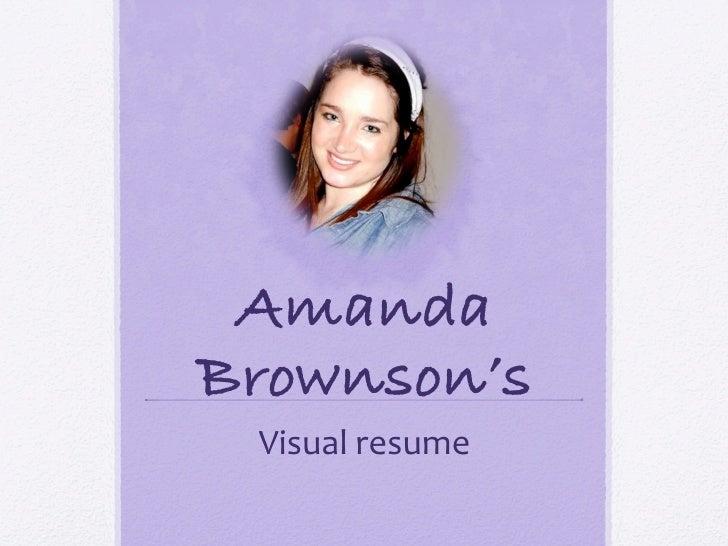 AmandaBrownson's!  Visualresume