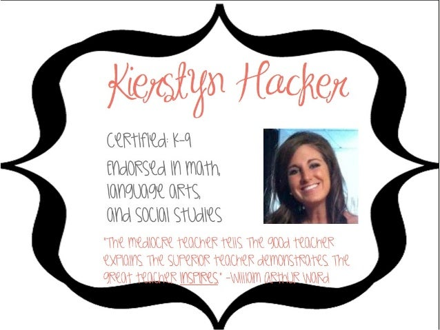 Kierstyn Hacker Visual Resume