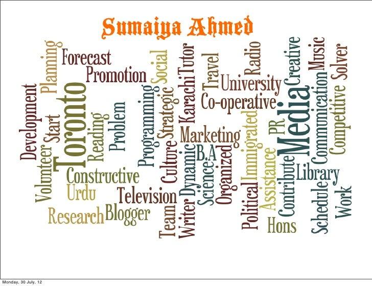 Sumaiya AhmedMonday, 30 July, 12