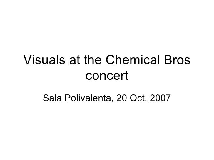 Visuals at the Chemical Bros concert Sala Polivalenta, 20 Oct. 2007