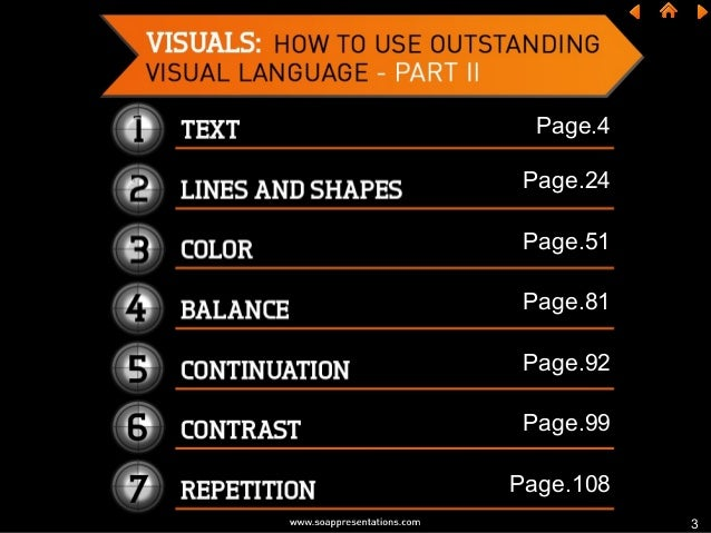 How to Use Outstanding Visual Language in a Presentation – Part II Slide 3