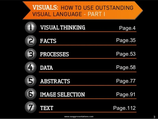 How to Use Outstanding Visual Language in a Presentation – Part I Slide 3