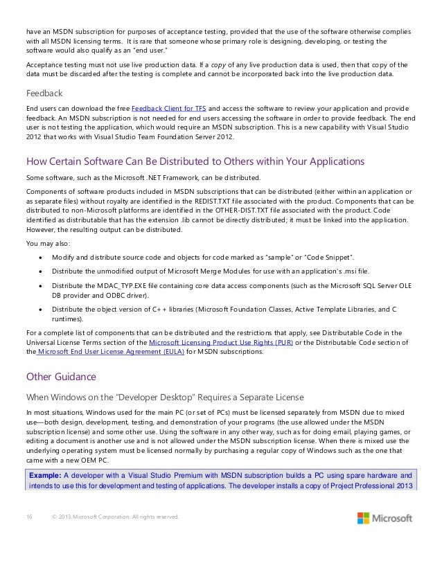 Visual Studio  And Msdn Licensing Whitepaper June