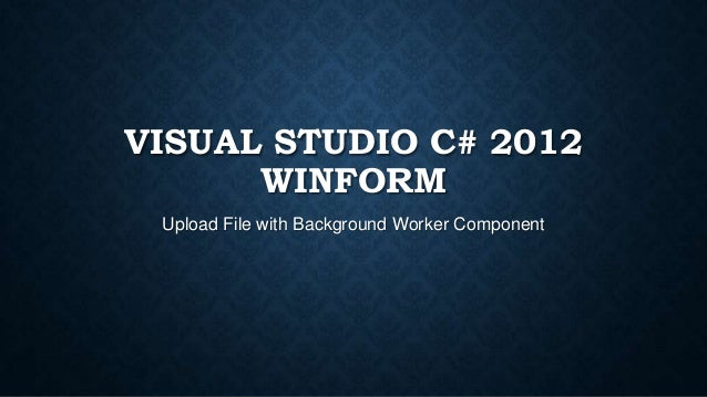 Winform] Visual studio C# 2012 upload ftp