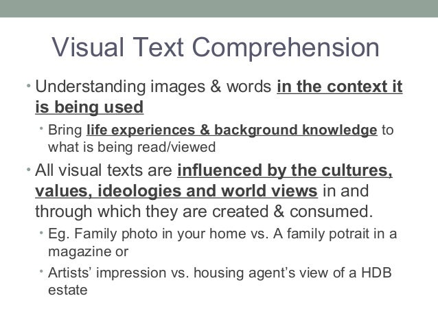 Visual text comprehension