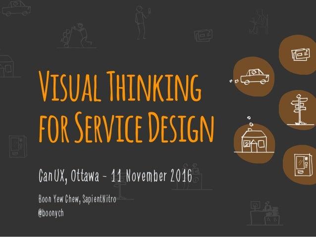 VisualThinking forServiceDesign CanUX, Ottawa - 11 November 2016 Boon Yew Chew, SapientNitro @boonych