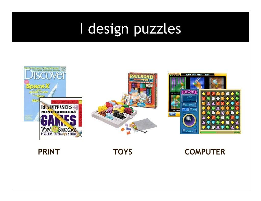 I design puzzles PRINT TOYS
