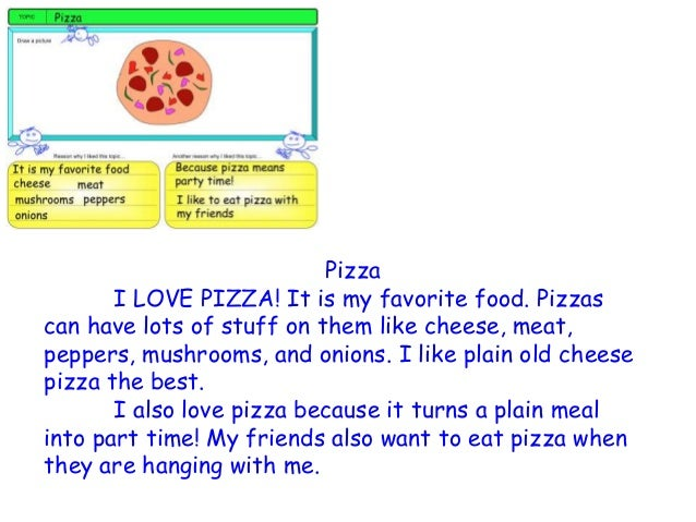 writing a descriptive paragraph about food