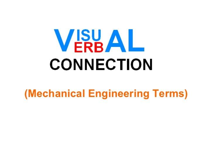(Mechanical Engineering Terms)
