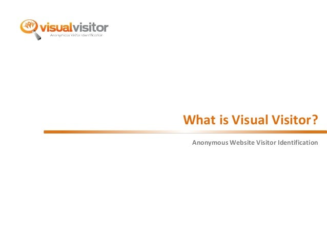 What is Visual Visitor?  Anonymous Website Visitor Identification