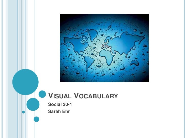 Visual Vocabulary<br />Social 30-1<br />Sarah Ehr<br />