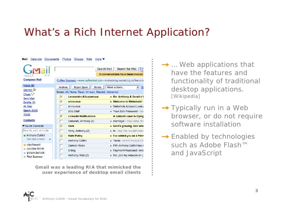what is a rich internet application essay Rich internet applications (ria) are web-based applications that have some characteristics of graphical desktop applications built with powerful development tools, rias can run faster and be more engaging.