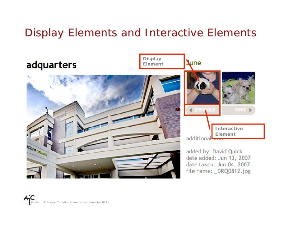 Display Elements and Interactive Elements                                                    Display                      ...
