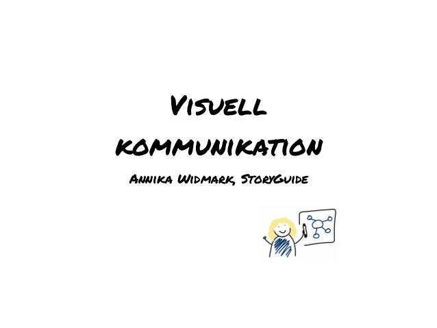 Visuell kommunikation Annika Widmark, StoryGuide