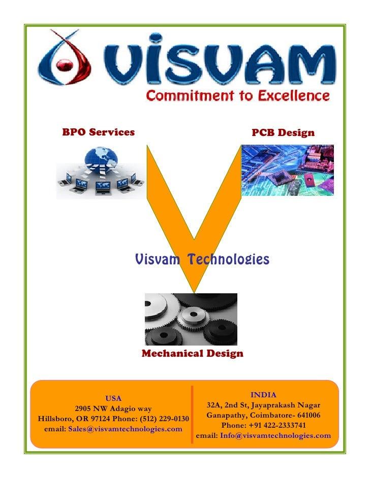 BPO Services                                        PCB Design                               Visvam Technologies          ...