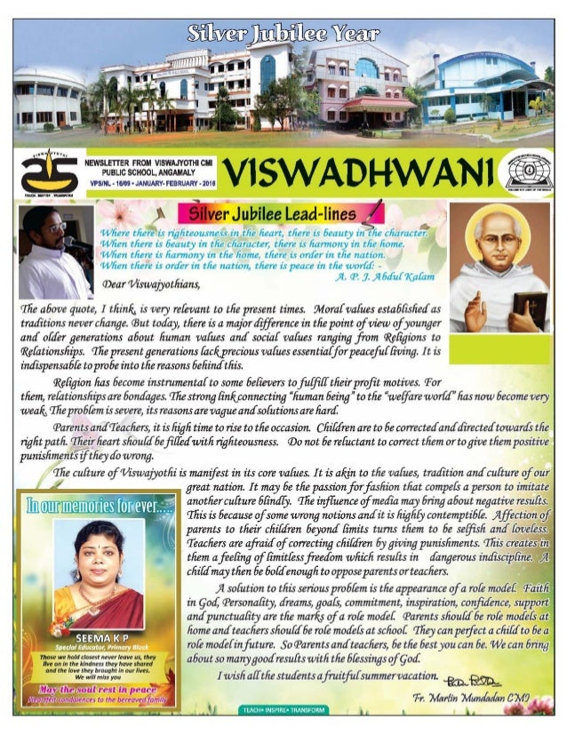 _Y  .  NEwsLE1'rER FROM vIswAJYo1'HIcMI PUBLIC SCHOOL.  ANGAMALY A . . g  ;  e,   VPSINL - 1am - JANUARY- FEBRUARY - 2019 ...