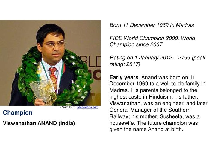 date of birth of viswanathan anand