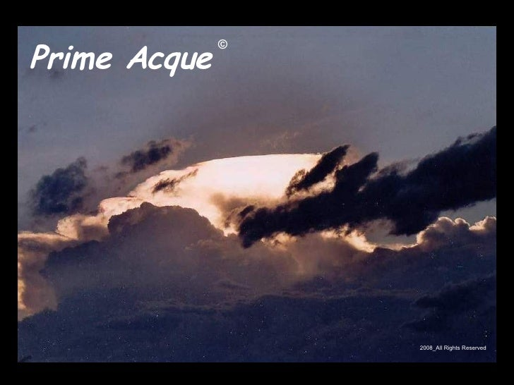Prime Acque  © 2008_All Rights Reserved