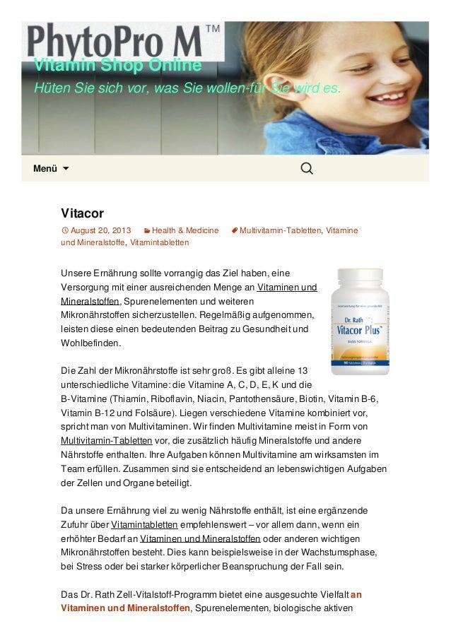 Vitamin Shop Online Hüten Sie sich vor, was Sie wollen-für Sie wird es. Menü  Vitacor August 20, 2013 Health & Medicine...