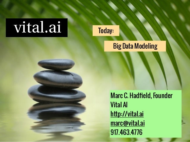Big Data Modeling Today: Marc C. Hadfield, Founder